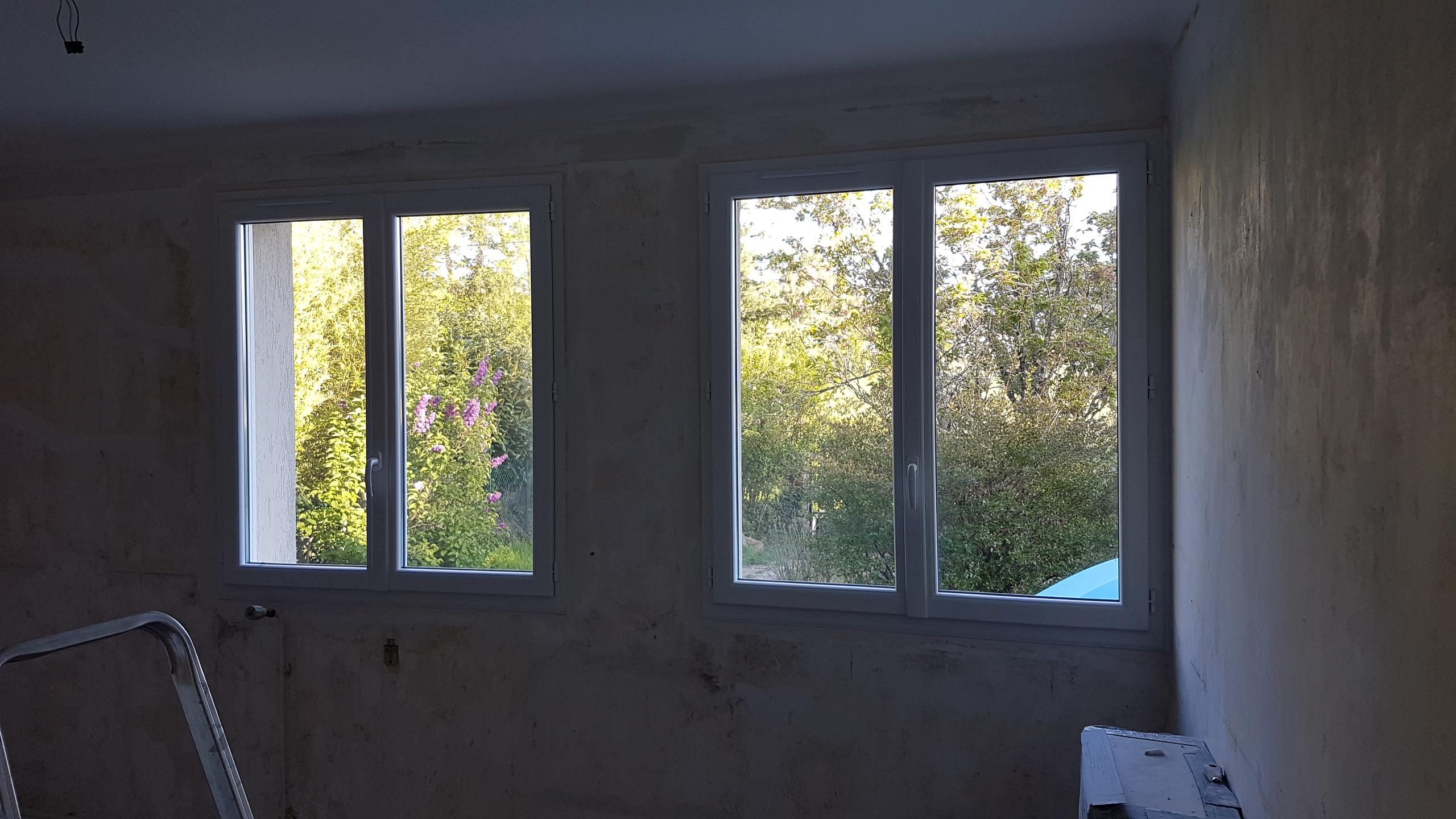 2 Fenêtres 2 vantaux PVC